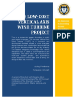 The low cost vertical wind turbine project