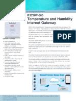RSZGW 600 Internet Gateway Datasheet en A