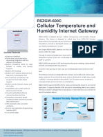 RSZGW 600C Cellular Internet Gateway Datasheet