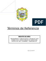 Tdr _maestro de Obra - 1 Mes