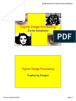 Digital Image Processing - Lecture Weeks 9 and 10