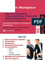 Effective Business Communication%2c Dress and Dining Etiquettes