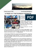 Pastor Bill Kren's Newsletter - January 15, 2017