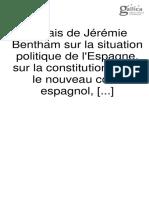 Bentham, Jeremy, Essais de Jérémie Bentham sur la situation politique de l'Espagne, 1823