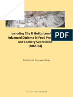 Advanced  Diploma in Food Preparation and Cookery supervision Level 3 Brochure 2017-18