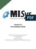 MISys Pre Installation Guide 6.3