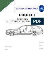 Dinamica Autovehiculelor Rutiere NICU LAURENȚIU