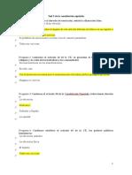 Test 3 de La Constitución Española