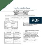 Understanding Personality Types