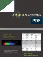 les représentations de la couleur en architectures