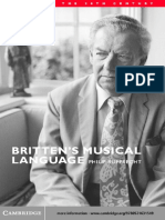 Britten's Musical Language, By Philip Rupprecht