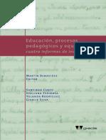 BENAVIDES MARTIN Comp. (2004) Educacion, Procesos Pedagógicos