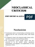 Literary Criticism Lecture Seven Neoclassical Criticism