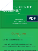 Product- Oriented Assessment