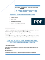 uniting for a progressive uk - draft consultation report including details of the process