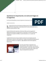 Aprobaron La Importación y La Venta de Viagra en La Argentina - 12.06.1998 - LA NACION