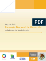Reporte Encuesta Nacional Desercion 2012 Ems