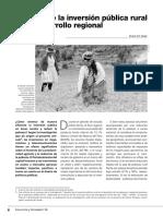 El Impacto de La Inversión Pública en El Desarrollo Regional