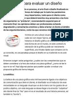 Parámetros para evaluar un diseño - Red Gráfica Latinoamérica