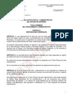 Ley de Justicia Fiscal y Administrativa Del Estado de Durango