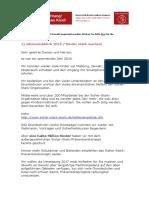 Jahresschreiben der Sicher-Stark-Organisation mit Sicherheitstipps