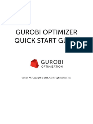 Quickstart Windows Gurobi | Command Line Interface
