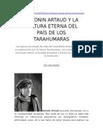 Antonin Artaud y La Cultura Eterna Del País de Los Tarahumaras
