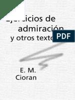 Cioran,Ejercicios de admiracion.pdf