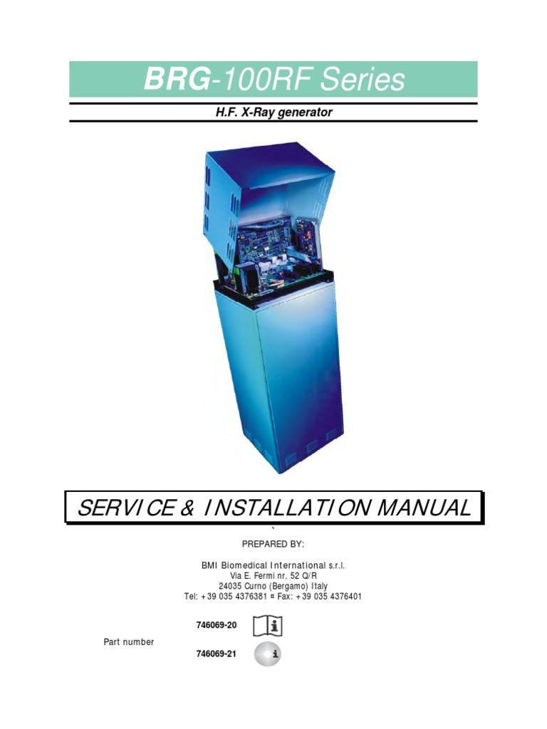 BMI BRG-100RF X-Ray - Service manual pdf | Electromagnetic