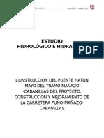 INFORME N° 03 Estudio hidrológico e hidraúlico