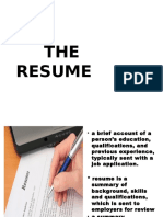 Resume and Cover Letter Outline