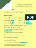 01 Algebra 1 Answers Easy Read