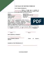 13. Deed of Sale of Motor Vehicle_1