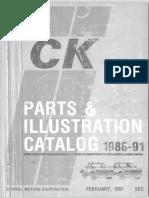 52C Part 1 1988-1991 GM Light Trucks Parts Catalog 1991 Printing