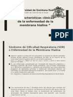 Caracteristicas Clinicas de La Membrana Hialina
