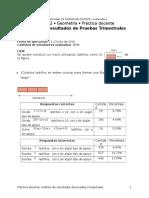 Análisis de resultados 6° grado B TRES COPIAS POR SECCIÓN A DOS CARAS