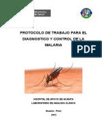 Protocolo de Malaria 2012