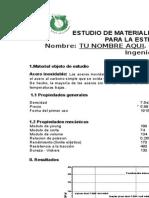 Propiedades de los materiales, estudio de materiales, proyecto final