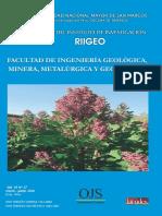 REVISTA RIIGEO DEL INSTITUTO DE INVESTIGACION DE LA FIGMMG-UNMSM. VOL. 19 N° 37. ENERO-JUNIO 2016.