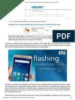Cara Mudah Flash Xiaomi Redmi Note 3 Pro (Kenzo) Lewat Mi Flash tool - cum2him™