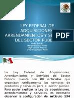 La Ley Federal de Adquisiciones, Arrendamientos y Servicios del Sector Público