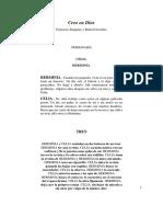 Creo en Dios, Obra de Teatro, Por F. Sanguino y R. González-133180