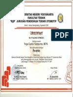 Seminar Otomotif Manajemen Industri Dan Sumber Daya Manusia PT Toyota Astra Motor (Peserta)