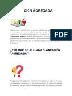 Plan Agregado y Plan Maestro