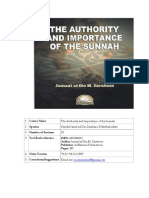 Authority and Importance of Sunnah - Jamal Zarabozo [Notes]
