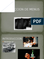 Confeccion de Menus