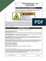 Lg Inst Lewarn 001 Rev l Law Enforcement Warnings
