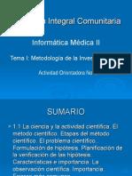 Tema 1.1 Metodología de La Investigación