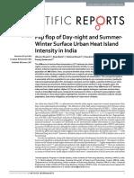 Urban Heat Island Intensity in India