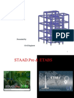 Modelling Building Frame With Staadpro n Etabs by civil engineer